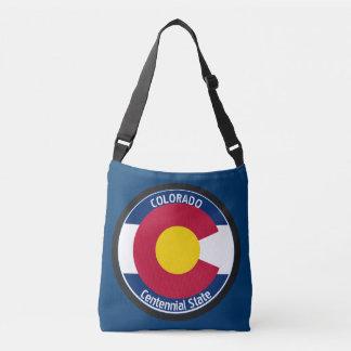 コロラド州の回状の旗 クロスボディバッグ