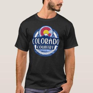 コロラド州の国の黒のTシャツ Tシャツ