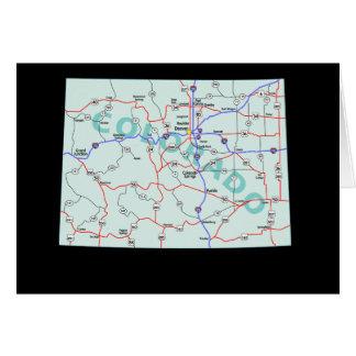 コロラド州の地図カード カード