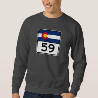コロラド州の州のルート59 スウェットシャツ