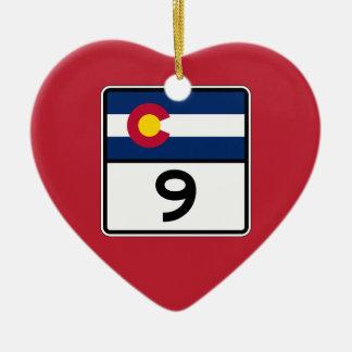 コロラド州の州のルート9 セラミックオーナメント