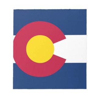 コロラド州の州の旗 ノートパッド