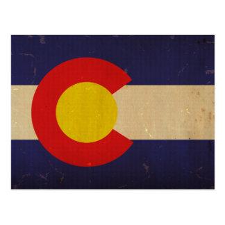 コロラド州の州の旗VINTAGE.png ポストカード