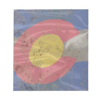 コロラド州の州の絹の旗 ノートパッド