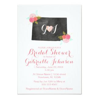 コロラド州の州の花のブライダルシャワーの招待状 カード