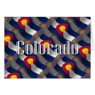 コロラド州の振る旗 カード