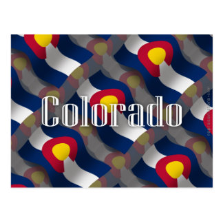 コロラド州の振る旗 ポストカード