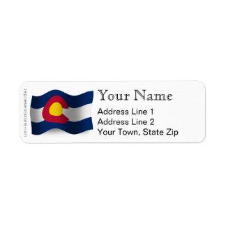 コロラド州の振る旗 ラベル