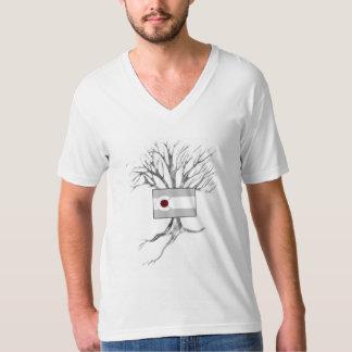 コロラド州の旗および木(vneck) tシャツ