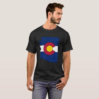 コロラド州の旗のアリゾナの輪郭メンズワイシャツ Tシャツ