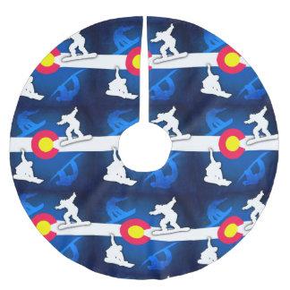 コロラド州の旗のグランジなスノーボーダーの木のスカート ブラッシュドポリエステルツリースカート