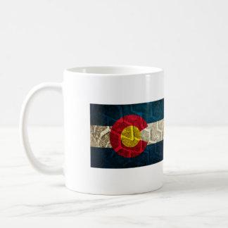 コロラド州の旗のタイヤの踏面 コーヒーマグカップ