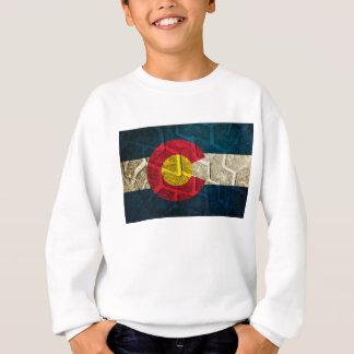 コロラド州の旗のタイヤの踏面 スウェットシャツ