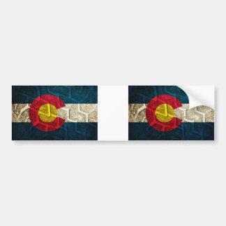 コロラド州の旗のタイヤの踏面 バンパーステッカー