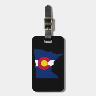 コロラド州の旗のミネソタの輪郭のカスタムな荷物のラベル ラゲッジタグ