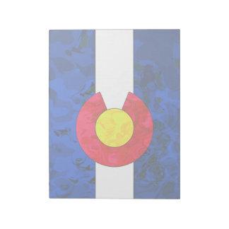 コロラド州の旗のメモ帳 ノートパッド
