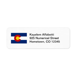 コロラド州の旗の差出人住所ラベル ラベル