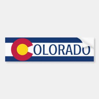 コロラド州の旗の平野のバンパーステッカー バンパーステッカー