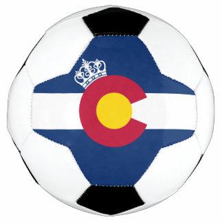 コロラド州の旗の王室のな王冠のサッカーボール サッカーボール