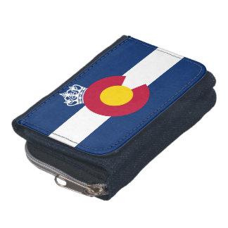 コロラド州の旗の王室のな王冠のデニムの硬貨の札入れ