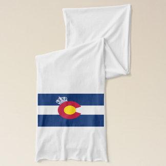 コロラド州の旗の王室のな王冠の白のスカーフ スカーフ