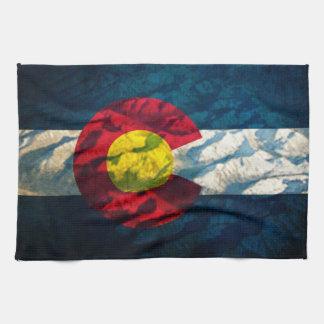 コロラド州の旗の石山 キッチンタオル