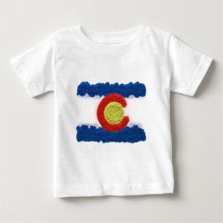 コロラド州の旗の砂の芸術 ベビーTシャツ