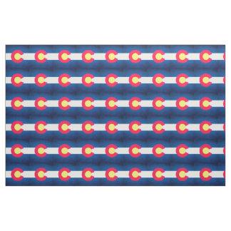 コロラド州の旗の繰り返しパターン生地 ファブリック