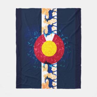 コロラド州の旗の自然場面フリースブランケット フリースブランケット