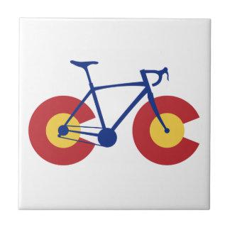 コロラド州の旗の自転車 タイル