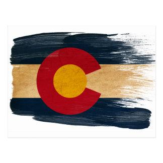 コロラド州の旗の郵便はがき ポストカード