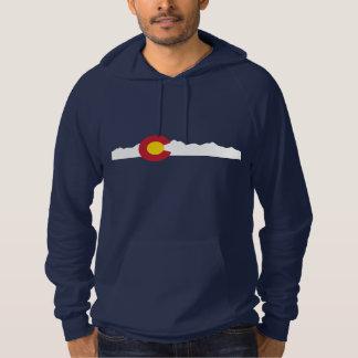 コロラド州の旗及び山のフード付きスウェットシャツ パーカ