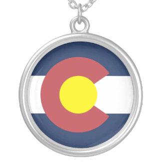 コロラド州の旗 シルバープレートネックレス
