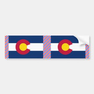 コロラド州の旗 バンパーステッカー