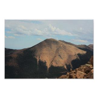 コロラド州の春までにロッキー山脈 フォトプリント