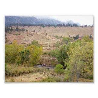 コロラド州の景色の仕事 フォトプリント