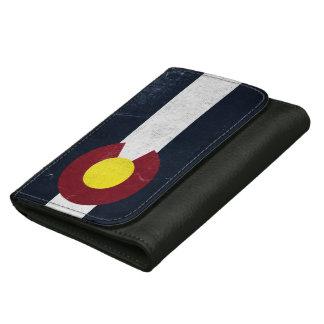コロラド州の暗くグランジな旗 ウォレット