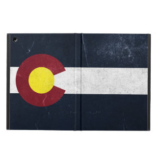 コロラド州の暗くグランジな旗 iPad AIRケース