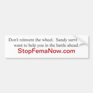 コロラド州の洪水の被災者:   StopFemaNow.comに行って下さい バンパーステッカー