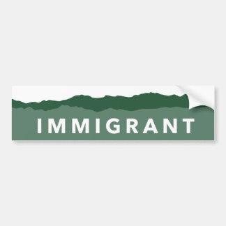 コロラド州の移民のバンパーステッカー バンパーステッカー