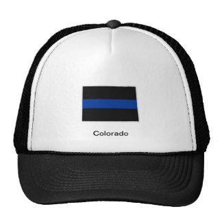 コロラド州の薄いブルーライントラック運転手の帽子 メッシュ帽子