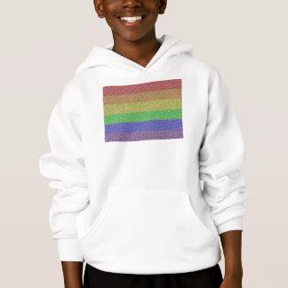 コロラド州の虹のプライドの旗のモザイク