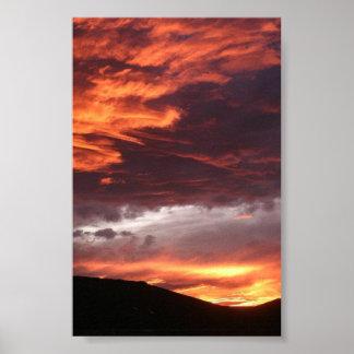 コロラド州の西部の日没 ポスター