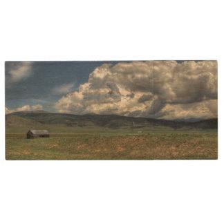 コロラド州の農場 ウッドUSBフラッシュドライブ