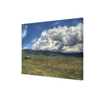 コロラド州の農場 キャンバスプリント