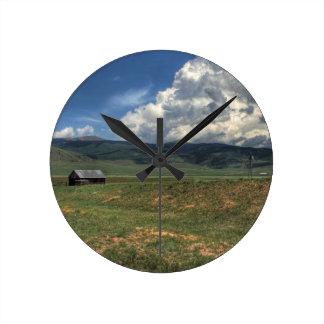 コロラド州の農場 ラウンド壁時計