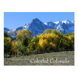 コロラド州の郵便はがき ポストカード