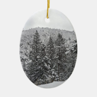 コロラド州の雪 セラミックオーナメント