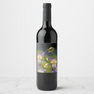 コロラド州の青オダマキ(植物) ワインラベル