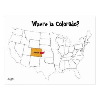 コロラド州はどこにありますか。 ポストカード